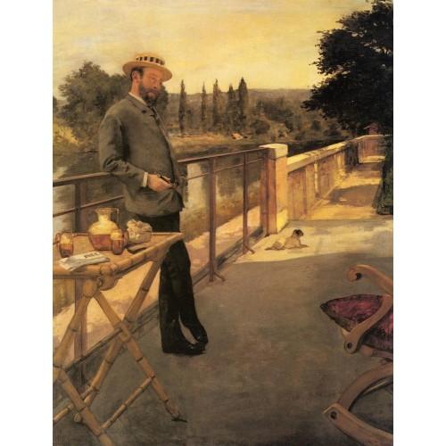 An Elegant Man on a Terrace