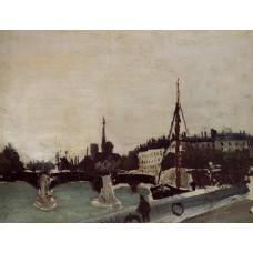 Notre Dame View of the Ile Saint Louis (Study)