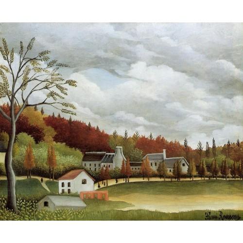View of Bievre sur Gentilly
