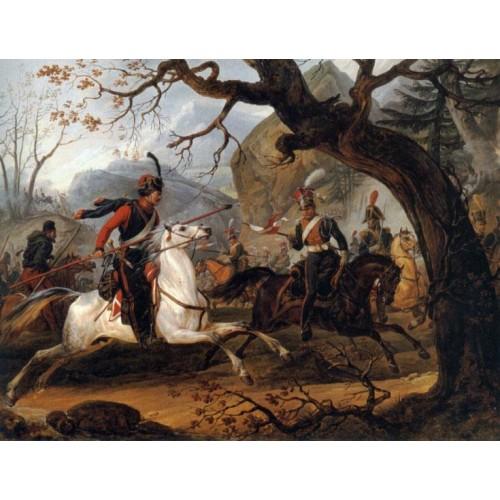 Napoleonic battle in the Alps
