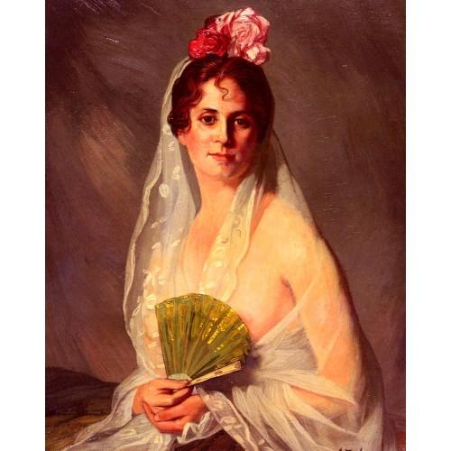 A Lady With A Fan