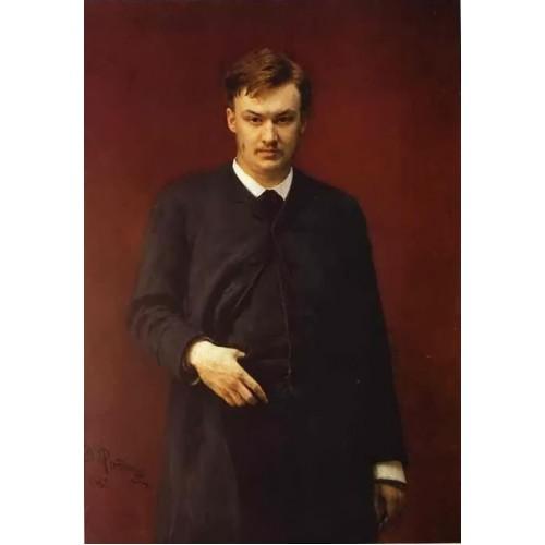 Portrait of the Composer Alexander Glazunov