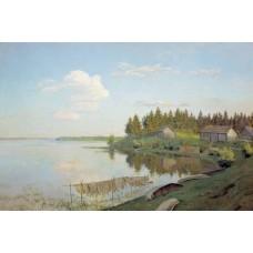 At the lake tver region 1893