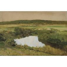 At twilight river istra 1885