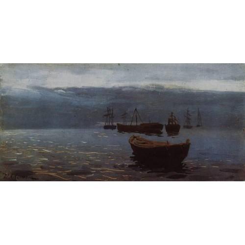 At volga evening falls 1888