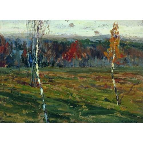 Autumn birches 1899