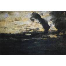 Cloudy sky twilight 1893