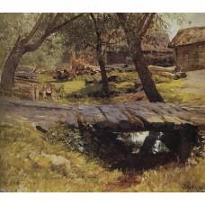 Footbridge savvinskaya village 1884
