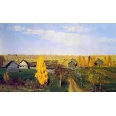 Golden autumn village 1889