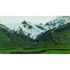 In alps at spring 1897