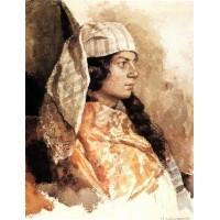 Jewish woman with oriental shawl 1884