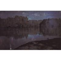 Night riverbank