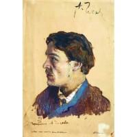 Portrait of writer anton chekhov 1886