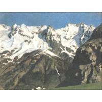 Range of mountains mont blanc 1897
