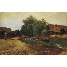 Village savvinskaya near zvenigorod at summer 1884