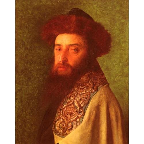 Young Rabbi with Blue Tallis