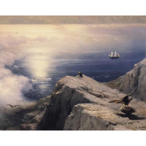 A rocky coastal landscape in the aegean 1884