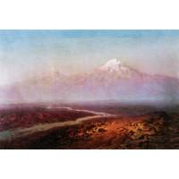 Araks river and ararat 1875