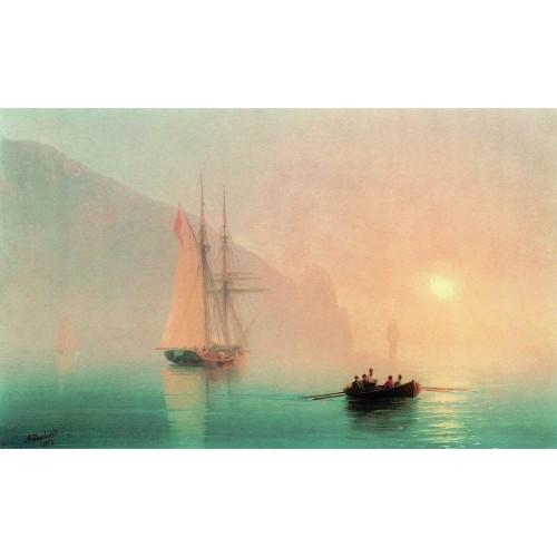 Ayu dag on a foggy day 1853