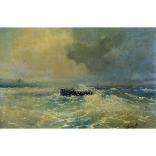 Boat at sea 1894