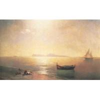 Calm on the mediterranean sea 1892