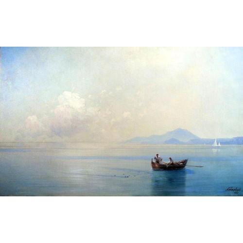 Calm sea landscape with fishermen 1887