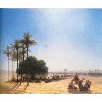 Caravan in the oasis egypt 1871