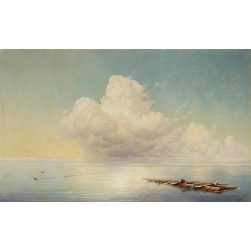Cloud over the calm sea 1877