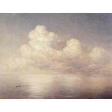 Clouds above a sea calm 1889