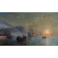 Columbus sailing from palos 1892