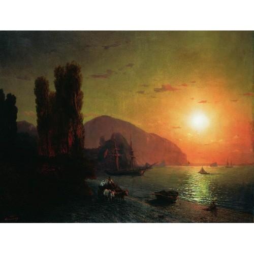 Crimean view ayu dag 1865
