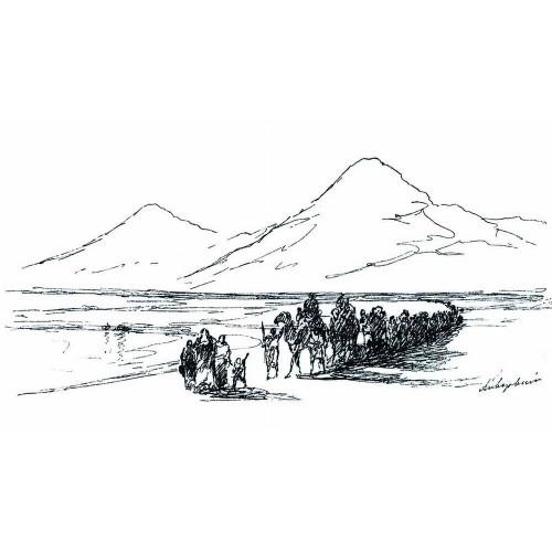 Dejection of noah from mountain ararat 1897