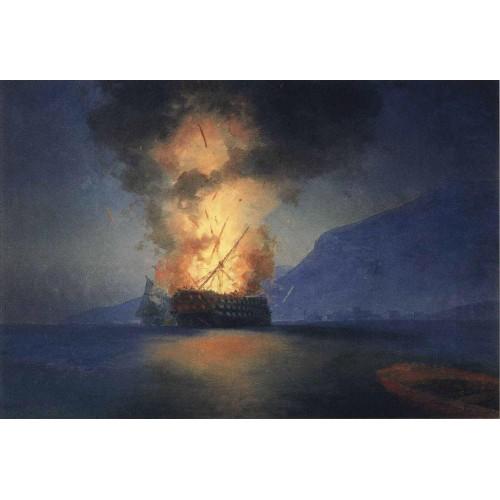 Exploding ship 1900