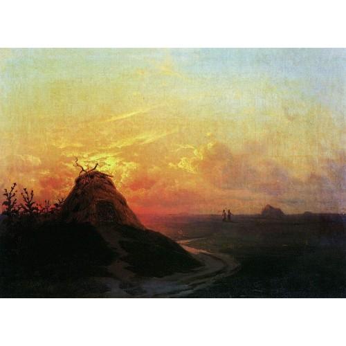 Field sunset 1861