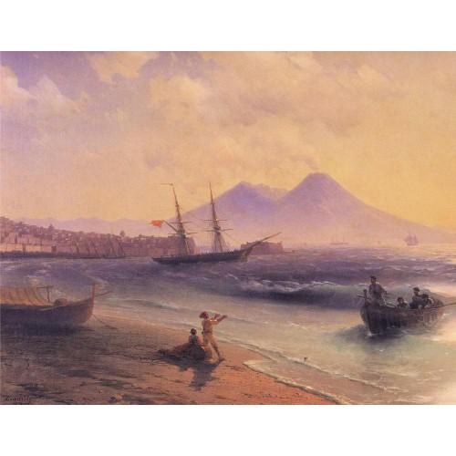 Fishermen returning near naples 1874