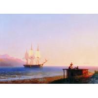 Frigate under sails 1838
