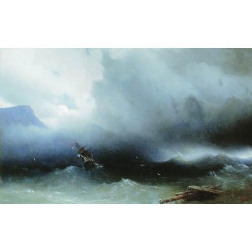 Hurricane at the sea 1850