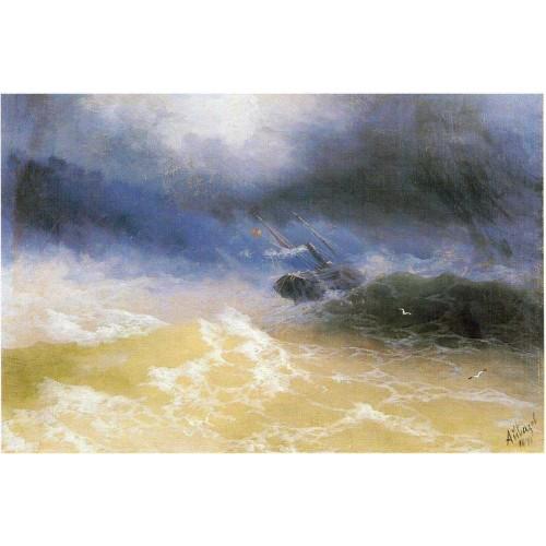 Hurricane on a sea 1899