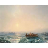 Ice in the dnepr 1872