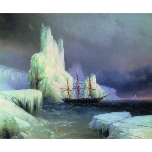 Icebergs in the atlantic 1870