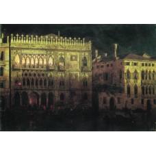 Ka d ordo palace in venice by moonlight 1878