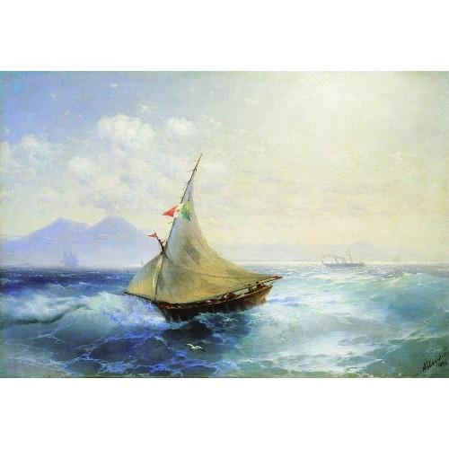Landscape with vesuvius 1896