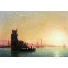 Lisbon sunrise 1860