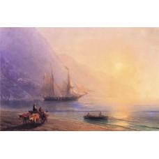 Loading provisions off the crimean coast 1876