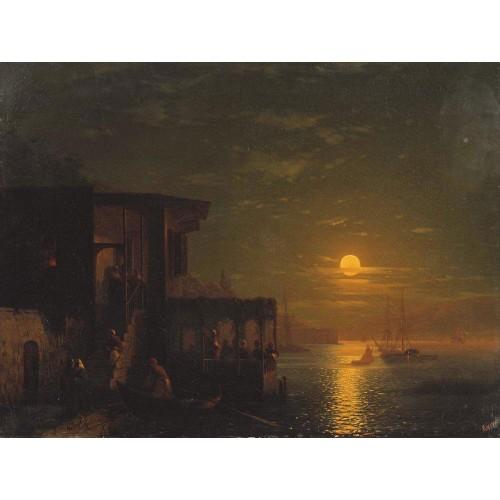 Lunar night at the sea 1875
