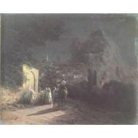 Lunar night at the spring 1877