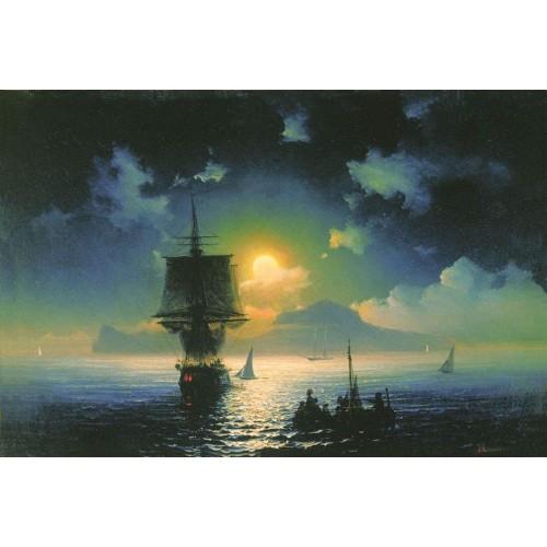 Lunar night on capri 1841