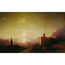 Lunar night on the crimean coast 1852