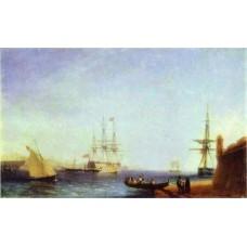 Malta valetto harbour 1844