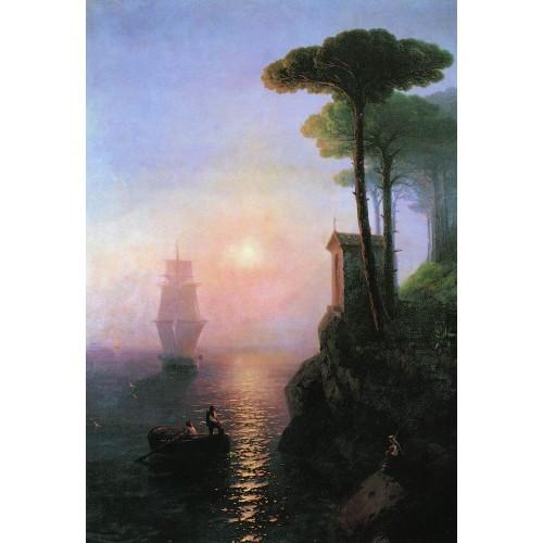 Misty morning in italy 1864